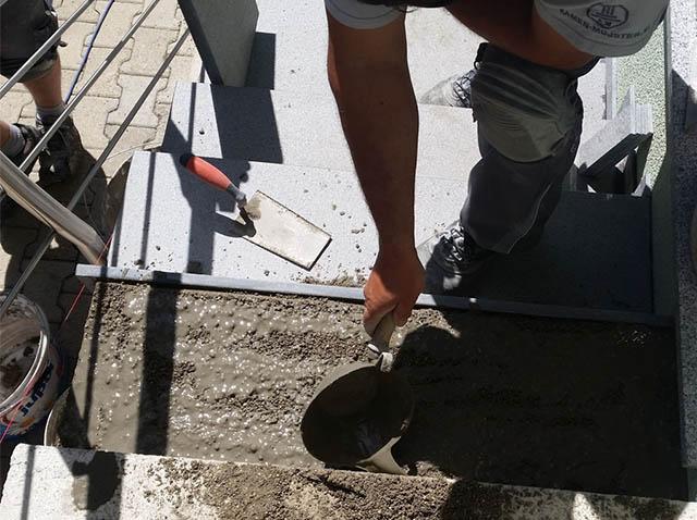 polaganje granitnih stopnic 10, priprava podlage