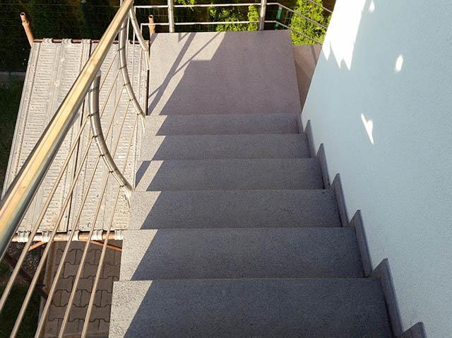 polaganje granitnih stopnic 16, končni izdelek