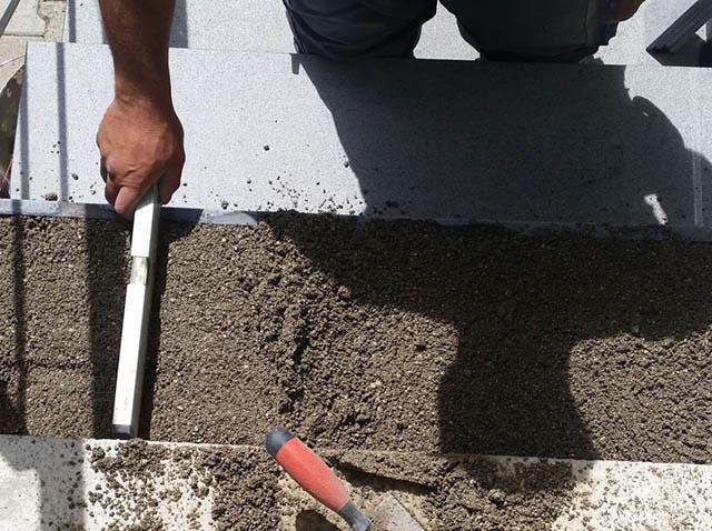 polaganje granitnih stopnic 7 , priprava podlage