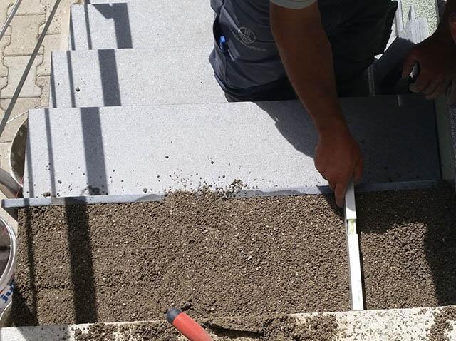 polaganje granitnih stopnic 8, priprava podlage
