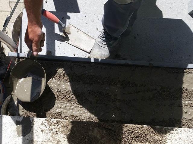 polaganje granitnih stopnic 9 , priprava podlage
