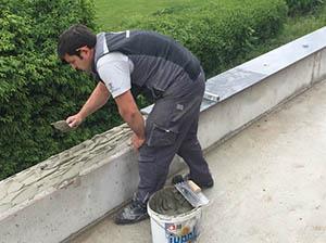 vgradnja zunanjih granitnih polic