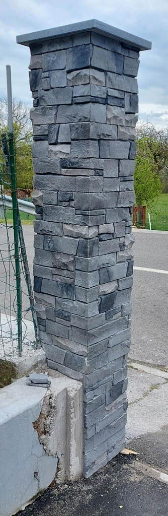 Steber - zaključen izgled dekorativnega kamna